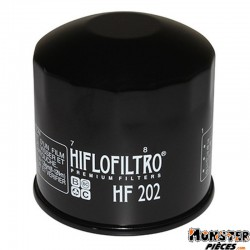 FILTRE A HUILE MOTO HIFLOFILTRO POUR HONDA 750 CBX-F, VFR, VT-SHADOW, 800 VT-C, 1000 VFR (80x80mm) (HF202)