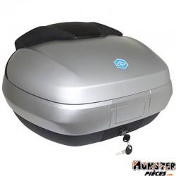 TOP CASE MAXISCOOTER ORIGINE PIAGGIO 300-500 MP3 2014> 50L AVEC SUPPORT GRIS MAT COMETE 760-B  -CM261506-