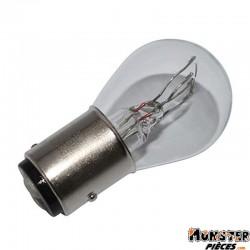 AMPOULE-LAMPE 12V 21-5W NORME P21-5W CULOT BAY15D BLANC (FEU POSITION + STOP) (VENDU A L'UNITE)  -FLOSSER-