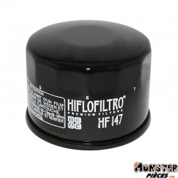 FILTRE A HUILE MAXISCOOTER HIFLOFILTRO POUR KYMCO 500 XCITING 2009>, 700 MYROAD 2011> (68x50mm) (HF147)
