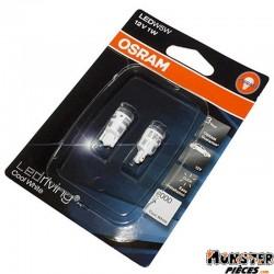 AMPOULE-LAMPE 12V  5W NORME W5W CULOT W2,1x9,5D WEDGE LED 6000 K BLANC (CLIGNOTANT) (BLISTER DE 2)  -OSRAM-