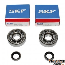 ROULEMENT D'EMBIELLAGE + JOINT CYCLO P2R ADAPTABLE MBK 51, 41, 40, 88, CLUB (KIT SKF 6302 QR ACIER)