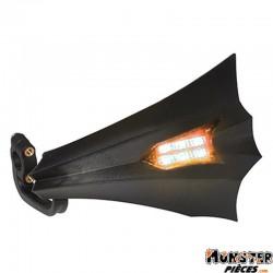 PROTEGE MAIN SCOOT REPLAY XRUN NOIR AVEC LEDS ORANGE (6 LEDS) (PAIRE)