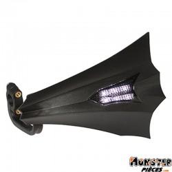 PROTEGE MAIN SCOOT REPLAY XRUN NOIR AVEC LEDS BLANC (6 LEDS) (PAIRE)