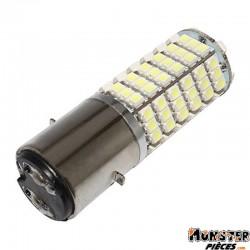 AMPOULE-LAMPE 12V A LEDS 3W 120SMD 8000>10000K CULOT BA20D ECLAIRAGE BLANC BRILLANT (PROJECTEUR) (VENDU A L'UNITE)  -REPLAY-