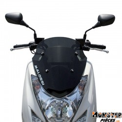 PARE BRISE MAXISCOOTER POUR YAMAHA 125 MAJESTY 2001>-MBK 125 SKYLINER 2001> (COURT FUME FONCE)  -MALOSSI-