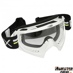 LUNETTE-MASQUE CROSS ADX MX BLANC ECRAN TRANSPARENT ANTI-RAYURES