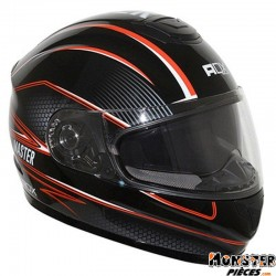 CASQUE INTEGRAL ADX XR2 MASTER DOUBLE ECRANS NOIR-ORANGE    XS