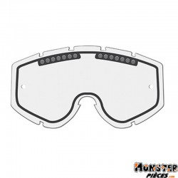 ECRAN LUNETTE-MASQUE CROSS PROGRIP 3235 TRANSPARENT LIGHT SENSITIVE DOUBLE ECRANS - ANTI-BUEE-ANTI-RAYURES-ANTI-U.V.