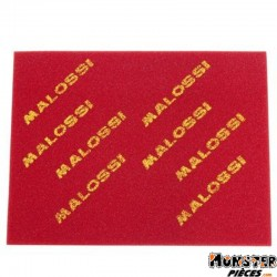 MOUSSE FILTRE A AIR SCOOT MALOSSI DOUBLE DENSITE EPAISSEUR 16mm 400x300mm ROUGE