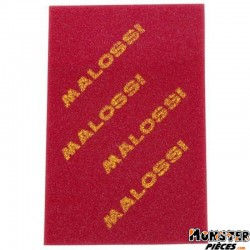 MOUSSE FILTRE A AIR SCOOT MALOSSI DOUBLE DENSITE EPAISSEUR 16mm 200x300mm ROUGE