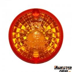 CABOCHON CLIGNOTANT 50 A BOITE ADAPTABLE APRILIA 50 RS 1999>2005-DERBI 50 DENDA X TREM, X RACE 2004>2005 ORANGE-NOIR AVANT OU AR