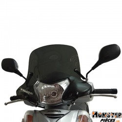 PARE BRISE MAXISCOOTER POUR HONDA 300 SH 2007>2010 (COURT FUME FONCE)  -MALOSSI-