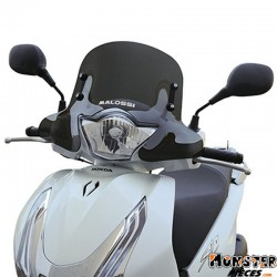 PARE BRISE MAXISCOOTER POUR HONDA 125 SHi ABS 2013> (COURT FUME FONCE)  -MALOSSI-