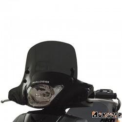 PARE BRISE MAXISCOOTER POUR HONDA 125 SH 2009> (COURT FUME FONCE)  -MALOSSI-