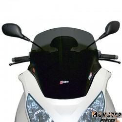 PARE BRISE MAXISCOOTER POUR PIAGGIO 250 MP3 2007>, 400 MP3 2007> (MOYEN FUME)  -FACO-