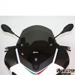 PARE BRISE MAXISCOOTER POUR APRILIA 125 SR MAX 2012>, 300 SR MAX 2012> (COURT FUME FONCE)  -FACO-