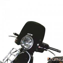 PARE BRISE MAXISCOOTER POUR PIAGGIO 125 VESPA GTS 2005> (COURT FUME FONCE)  -FACO-