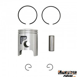 PISTON 50 A BOITE ADAPTABLE MINARELLI 50 AM6 POUR CYLINDRE ADAPTABLE DIAM 40,00MM  -P2R QUALITE PREMIUM-