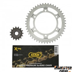 KIT CHAINE ADAPTABLE HONDA XL 600 V 1989>2000  525  15x47  (DEMULTIPLICATION ORIGINE)  -AFAM-