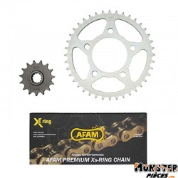 KIT CHAINE ADAPTABLE HONDA CB 500 1994>2003  525  15x40  (DEMULTIPLICATION ORIGINE)  -AFAM-
