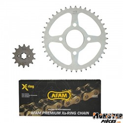 KIT CHAINE ADAPTABLE HONDA VT 125 C SHADOW 1999>2007  520  14x41  (DEMULTIPLICATION ORIGINE)  -AFAM-