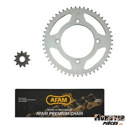 KIT CHAINE ADAPTABLE BETA 50 RR ENDURO 2012>  420  11x51 (ALESAGE 100mm) (DEMULTIPLICATION ORIGINE)  -AFAM-