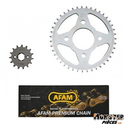 KIT CHAINE ADAPTABLE HONDA CM 125-C 1983>1999  428  15x43  (DEMULTIPLICATION ORIGINE)  -AFAM-
