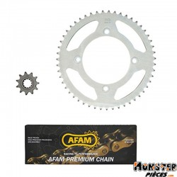 KIT CHAINE ADAPTABLE BETA 50 RR 2005>2011  420  11x51 (ALESAGE 100mm) (DEMULTIPLICATION ORIGINE)  -AFAM-