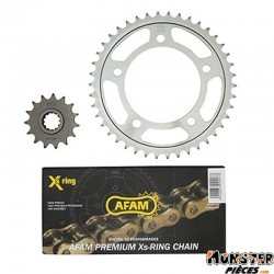 KIT CHAINE ADAPTABLE HONDA CB 600 F HORNET 1998>2006  525  15x42  (DEMULTIPLICATION ORIGINE)  -AFAM-