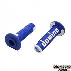 REVETEMENT POIGNEE DOMINO OFF ROAD A360 BLEU-BLANC (120 mm) (PAIRE)  -DOMINO ORIGINE-