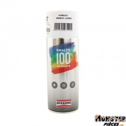 BOMBE DE PEINTURE AREXONS ACRYLIQUE BLANC BRILLANT spray 400ml (3599)