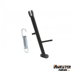 BEQUILLE 50 A BOITE LATERALE ADAPTABLE APRILIA 50 RS4 NOIR  -SELECTION P2R-