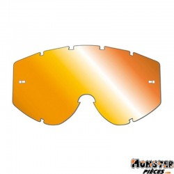 ECRAN LUNETTE-MASQUE CROSS PROGRIP 3249 ORANGE MULTICOUCHES MIROIR - ANTI-BUEE-ANTI-RAYURES-ANTI-U.V.