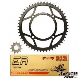 KIT CHAINE ADAPTABLE BETA 50 RR RACING 2005>  420  11x51  (132 MAILLONS - CHAINE RACING)  -DID-