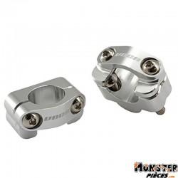 PONTET DE GUIDON VOCA HB28 CNC ADAPTATEUR DIAM 28,6mm ARGENT (ENTRAXE FIXATION 34,8mm) (PAIRE)