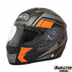 CASQUE INTEGRAL ADX XR1 BATTLEGROUND NOIR-ORANGE FLUO MAT XXL