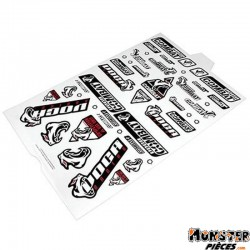 AUTOCOLLANT-STICKER VOCA RACING (PANCHE 45x35cm - 46 STICKERS)