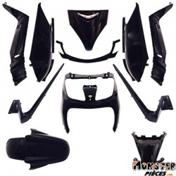 CARROSSERIE-CARENAGE MAXISCOOTER ADAPTABLE YAMAHA 125 XMAX 2006>2009-MBK 125 SKYCRUISER 2006>2009 NOIR BRILLANT (KIT 11 PIECES)