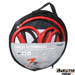 CABLE DE DEMARRAGE POUR BATTERIE MOTO-SCOOTER-QUAD 240A 16mm2 (L 3M)