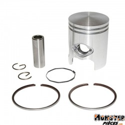 PISTON SCOOT ADAPTABLE CPI 50 GTR-KEEWAY (AXE DE 12 - 2 SEGMENTS 1,5mm)  -P2R QUALITE PREMIUM-