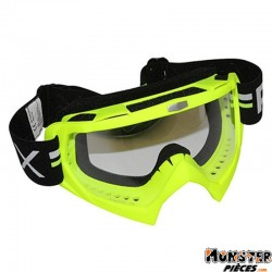 LUNETTE-MASQUE CROSS ADX MX JAUNE FLUO ECRAN TRANSPARENT ANTI-RAYURES