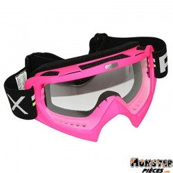 LUNETTE-MASQUE CROSS ADX MX ROSE FLUO ECRAN TRANSPARENT ANTI-RAYURES