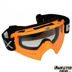 LUNETTE-MASQUE CROSS ADX MX ORANGE FLUO ECRAN TRANSPARENT ANTI-RAYURES