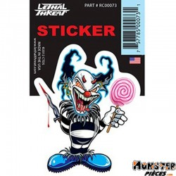 AUTOCOLLANT-STICKER LETHAL THREAT BLUE CLOWN (7x11cm) (RC00073)
