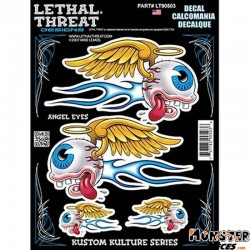AUTOCOLLANT-DECAL LETHAL THREAT ANGEL EYES (15x20cm) (LT90503)