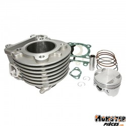 CYLINDRE MAXISCOOTER POLINI ALU POUR YAMAHA 125 CYGNUS 1998>2006-MBK 125 FLAME 1998>2006 (DIAM 59 mm) (166.0114)