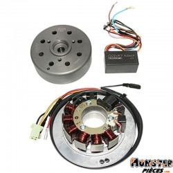 ALLUMAGE SCOOT KRD ANALOGIQUE ROTOR EXTERNE POUR MBK 50 NITRO 2004>, MACH-G, OVETTO-YAMAHA 50 AEROX 2004>, JOG-R, NEOS AVEC ALLU
