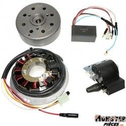 ALLUMAGE SCOOT KRD ANALOGIQUE ROTOR EXTERNE POUR MBK 50 NITRO 1997>2003, MACH-G, OVETTO-YAMAHA 50 AEROX 1997>2003, JOG-R, NEOS A