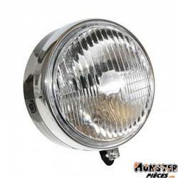 PHARE-PROJECTEUR CYCLO ADAPTABLE MBK 51 SWING ROND NOIR  -SELECTION P2R-